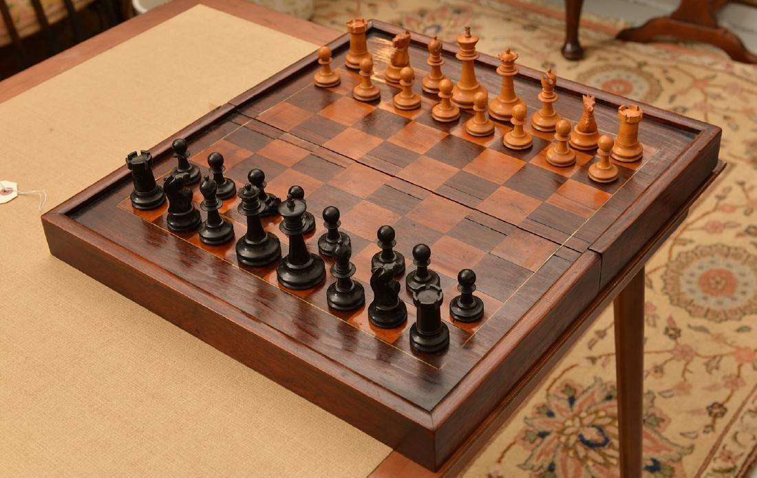 Staunton style chess set and Syrian case - 7