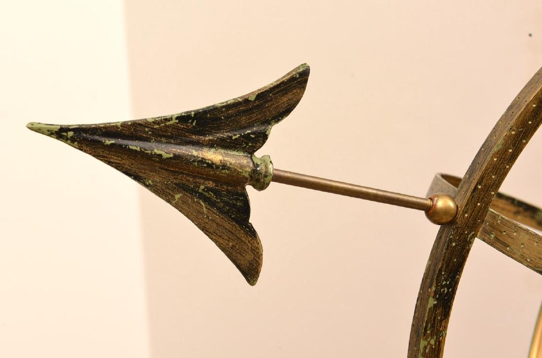 Patinated metal armillary sphere - 3