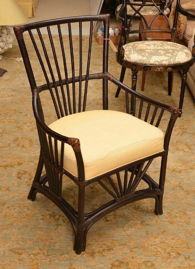 Palecek ebonized bamboo style chair