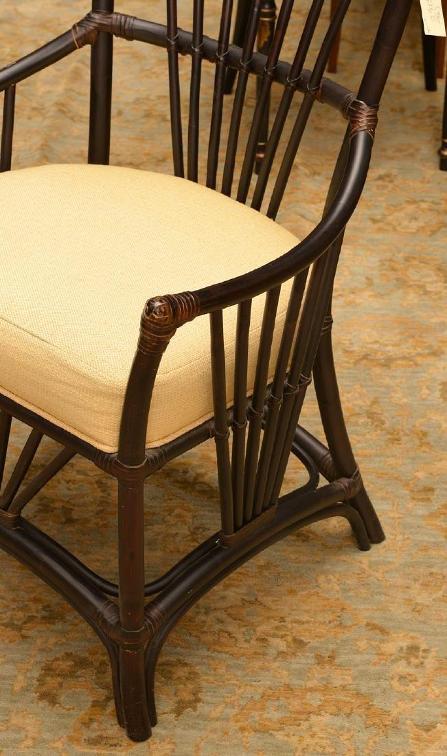 Palecek ebonized bamboo style chair - 2