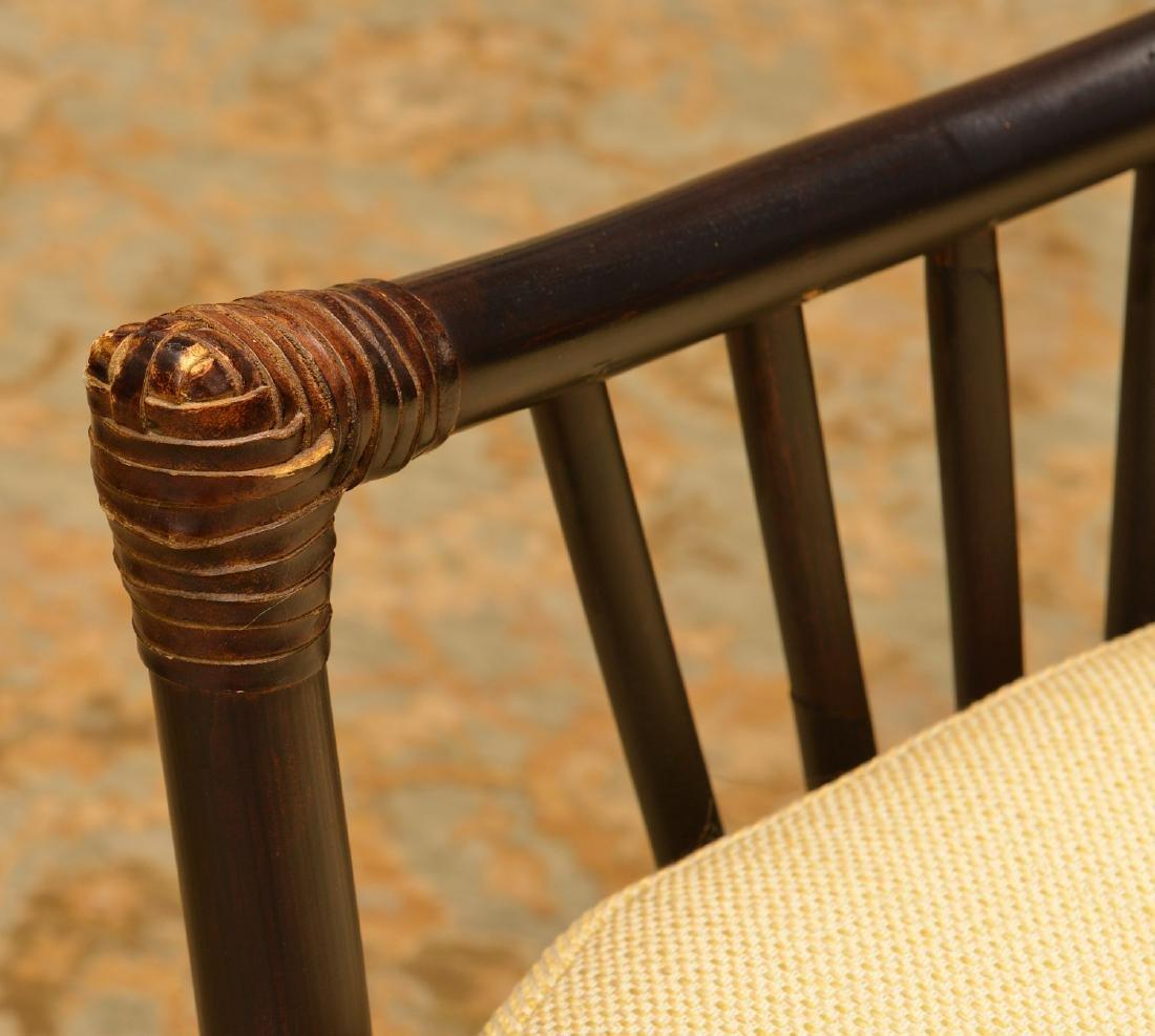 Palecek ebonized bamboo style chair - 3