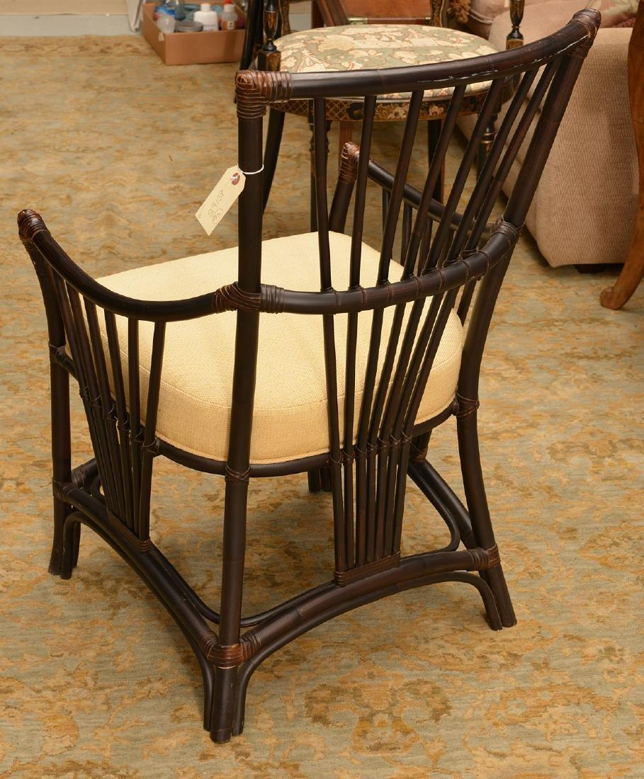 Palecek ebonized bamboo style chair - 4