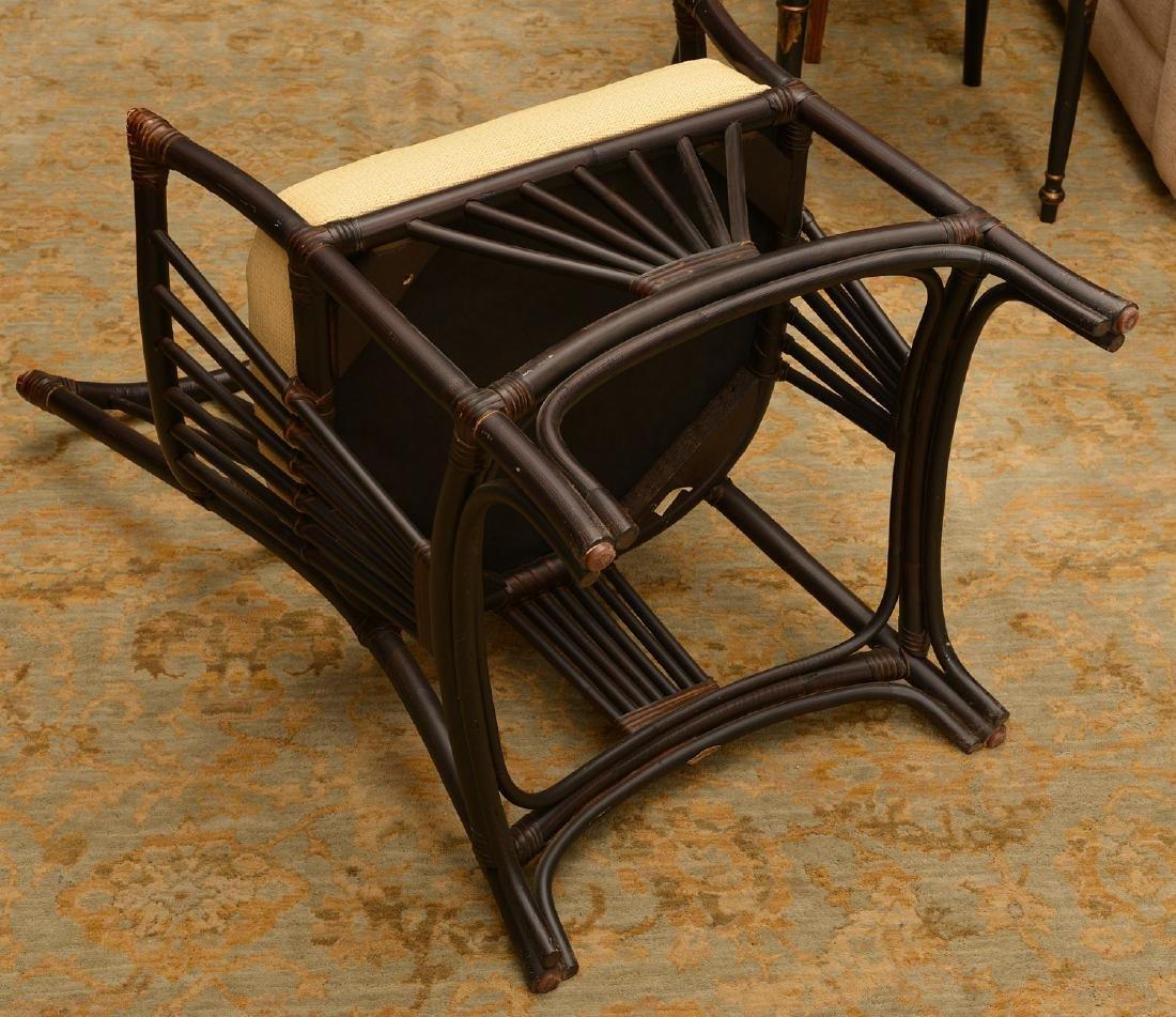 Palecek ebonized bamboo style chair - 5