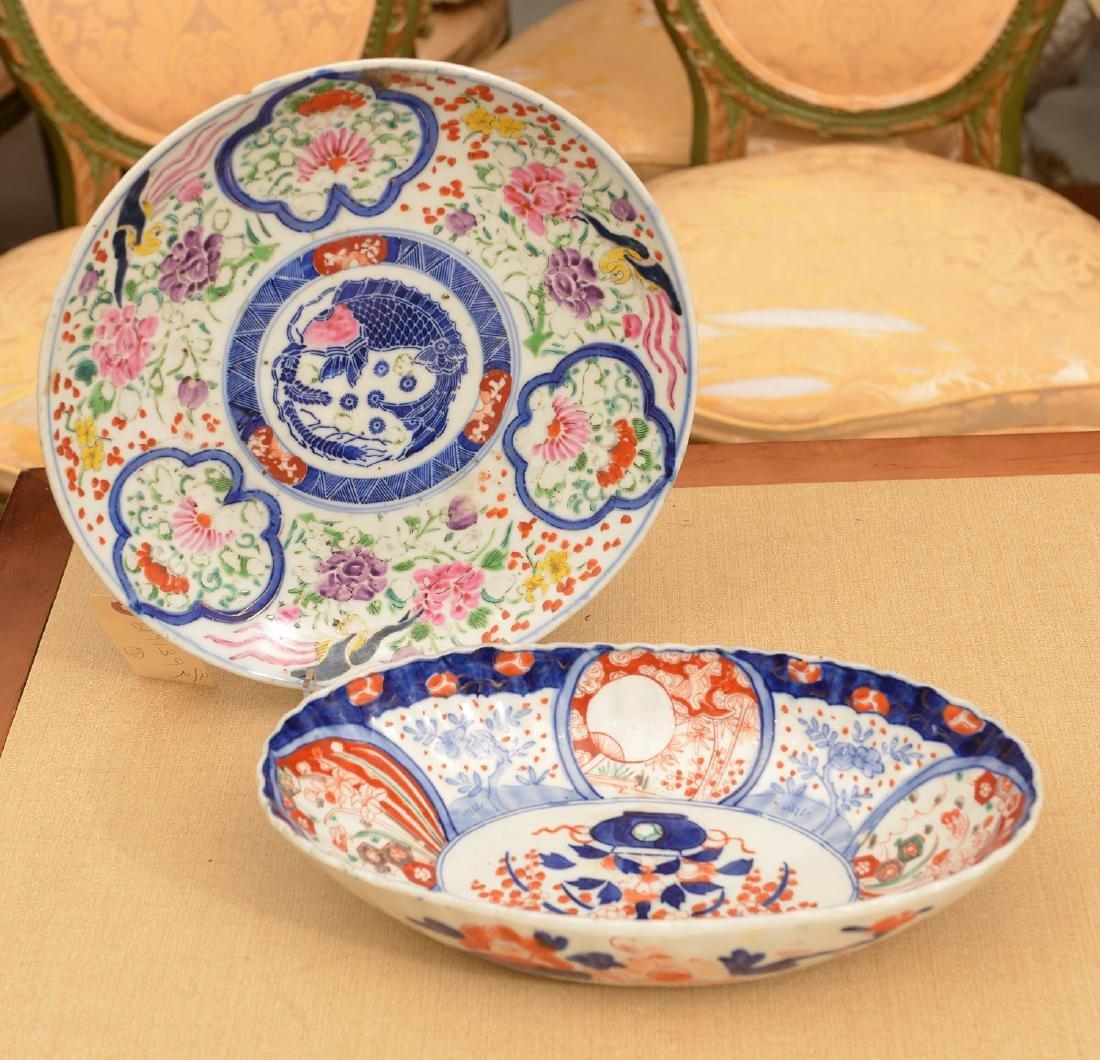 (2) Japanese porcelain dishes