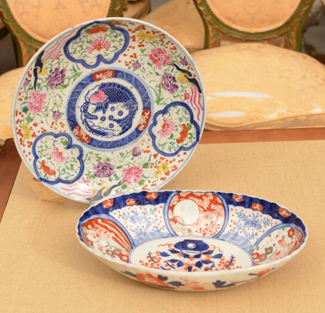 (2) Japanese porcelain dishes