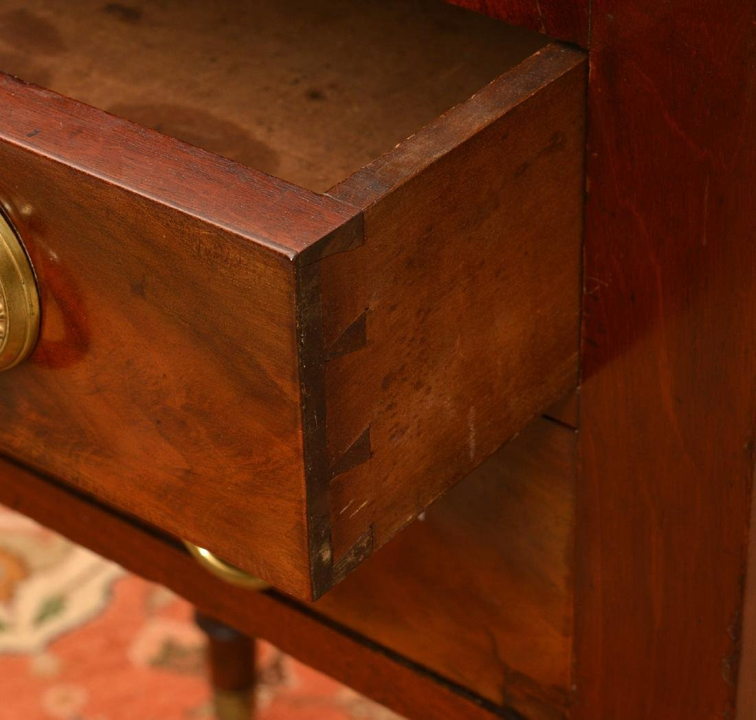 American Classical mahogany 2-drawer stand - 2
