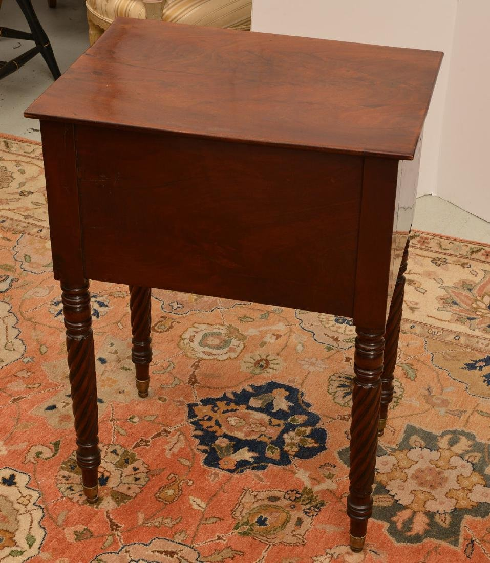 American Classical mahogany 2-drawer stand - 3