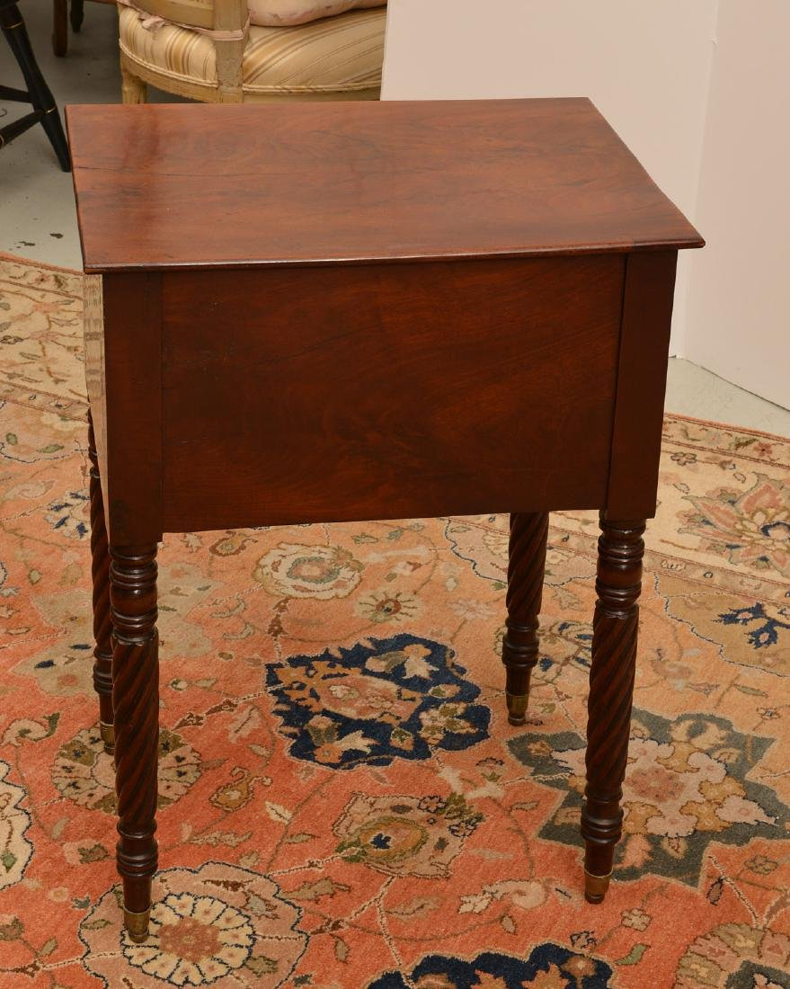 American Classical mahogany 2-drawer stand - 4