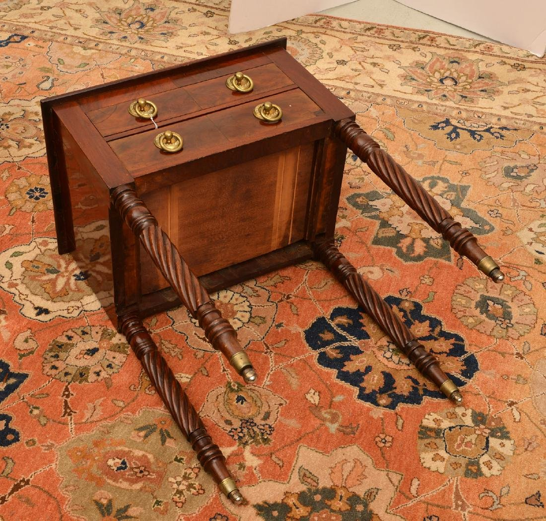 American Classical mahogany 2-drawer stand - 6