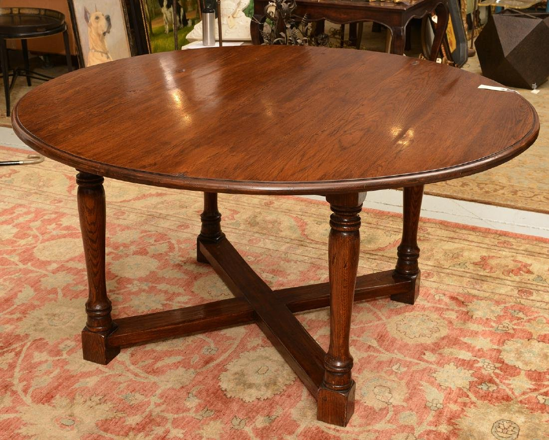Large English Country style oak/elm dining table