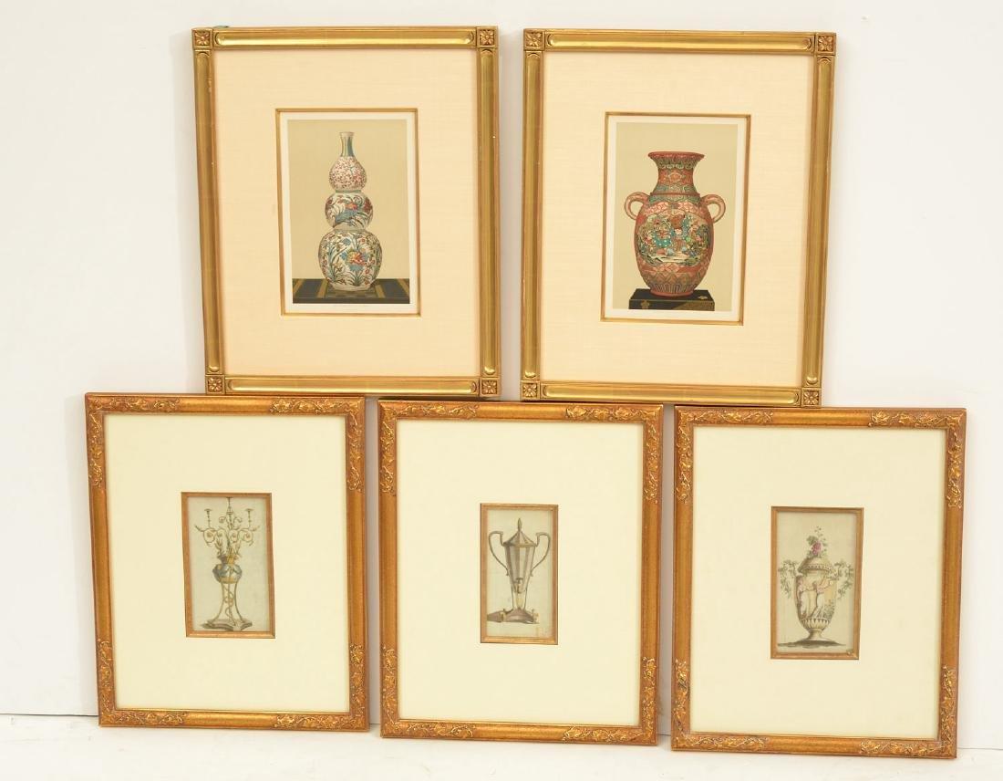 (2) sets Interior Design prints