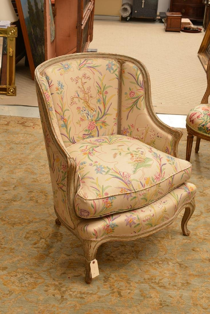 Group (4) Louis XV/XVI style painted chairs - 4