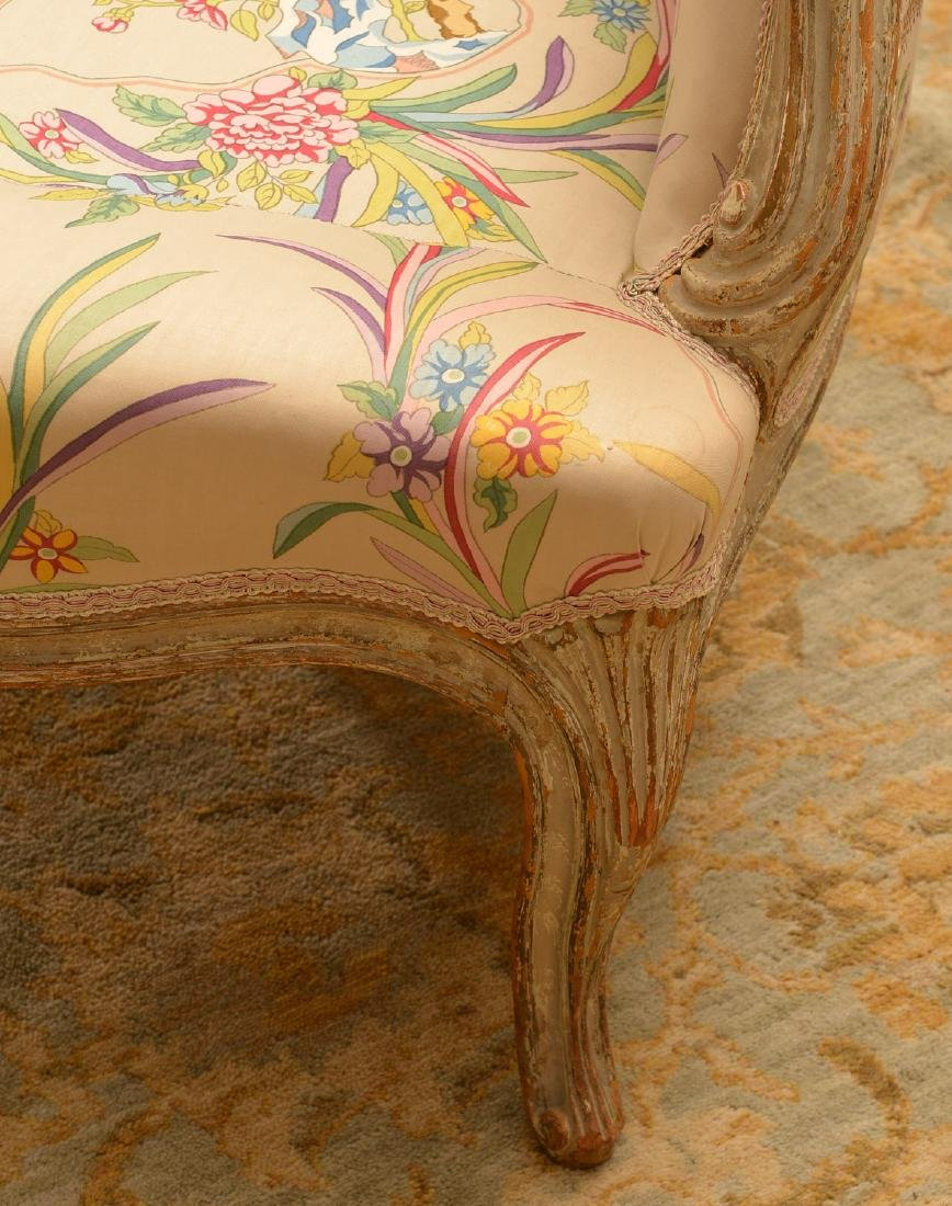 Group (4) Louis XV/XVI style painted chairs - 8