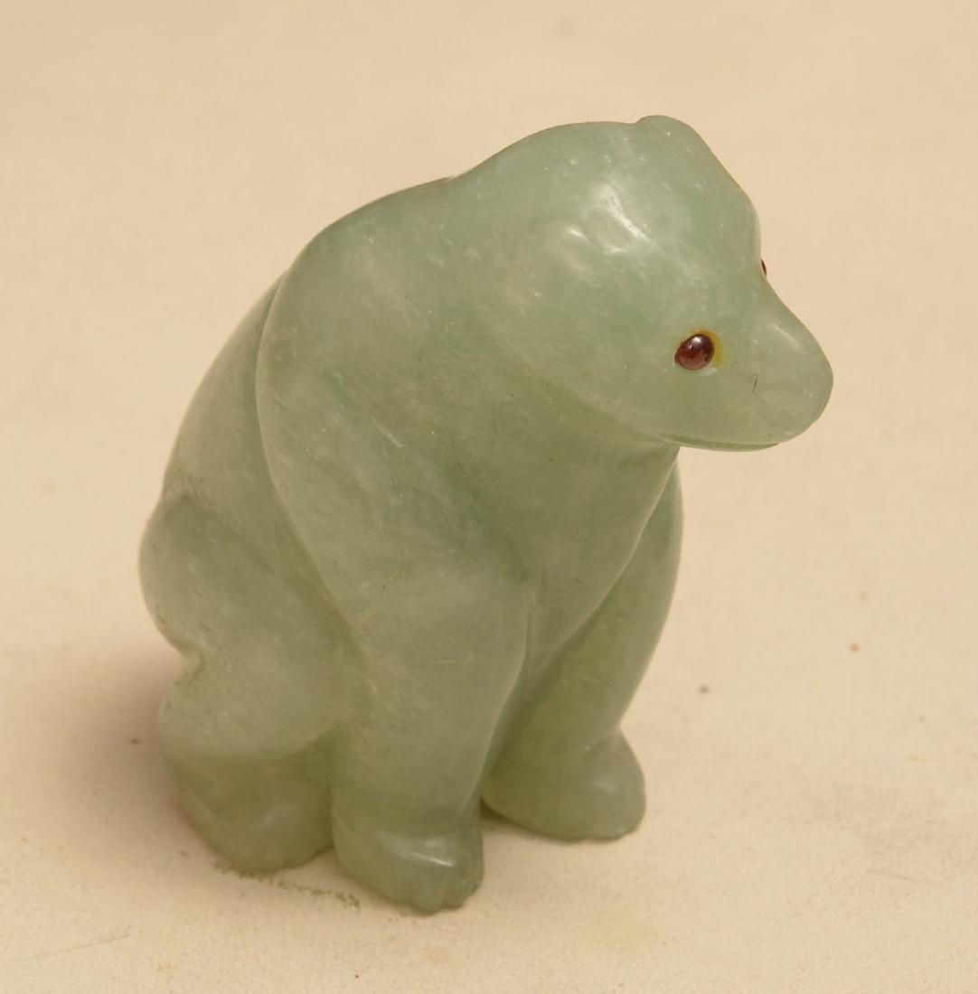 (2) Carved hardstone animal figures - 3