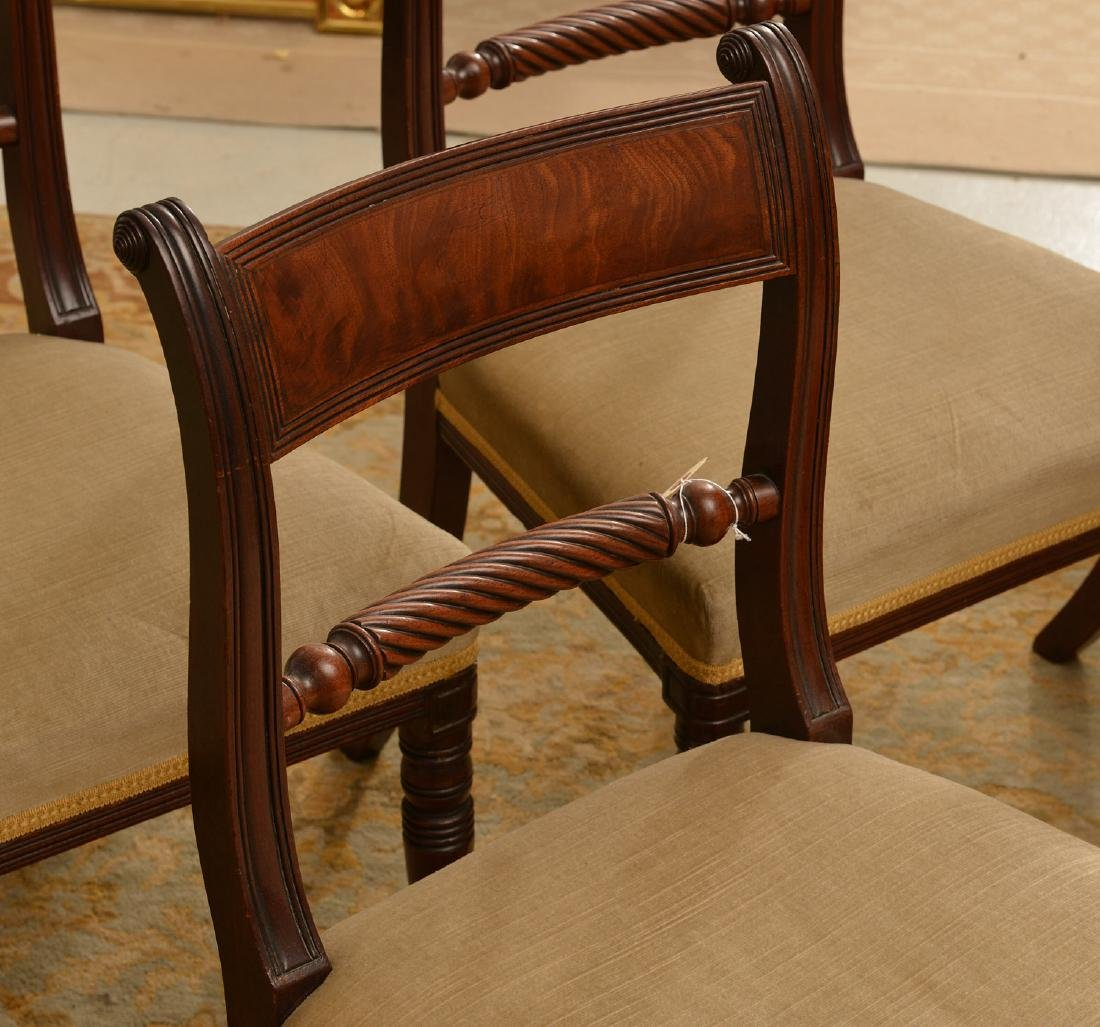 Set (6) American Classical mahogany dining chairs - 3