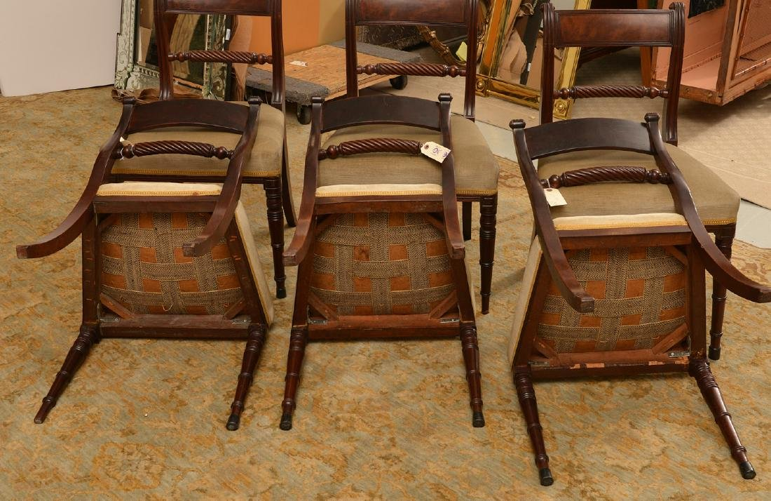 Set (6) American Classical mahogany dining chairs - 5