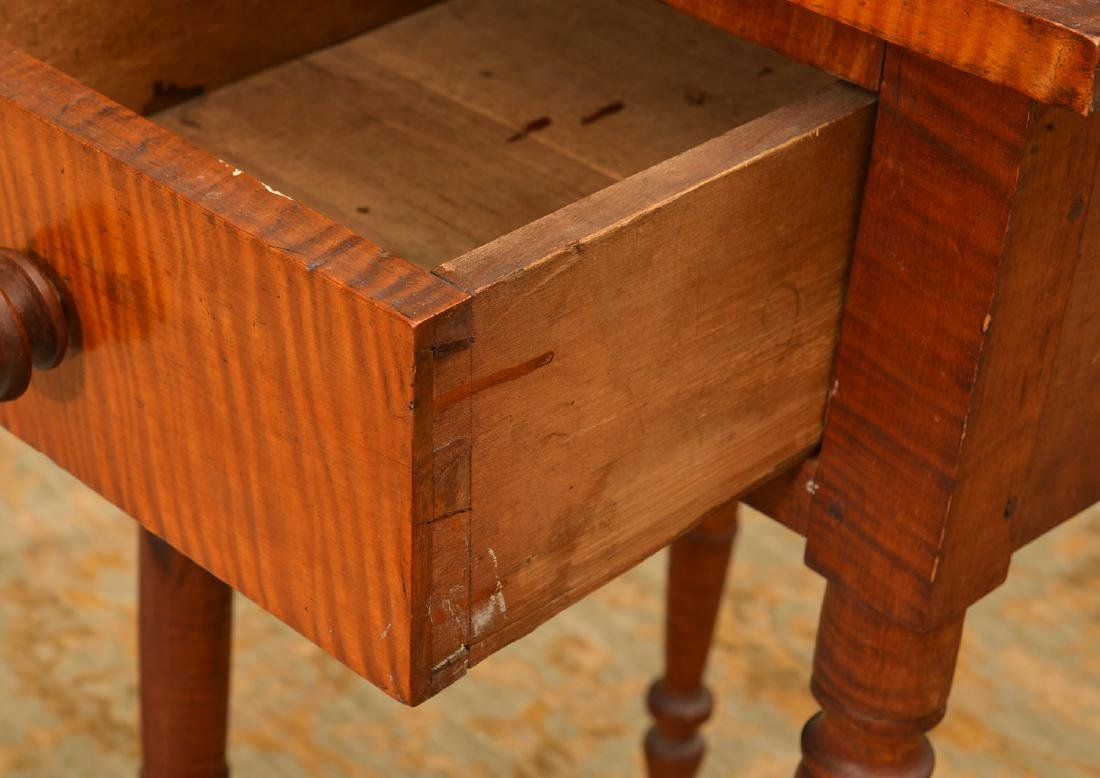 American tiger maple one drawer stand - 2
