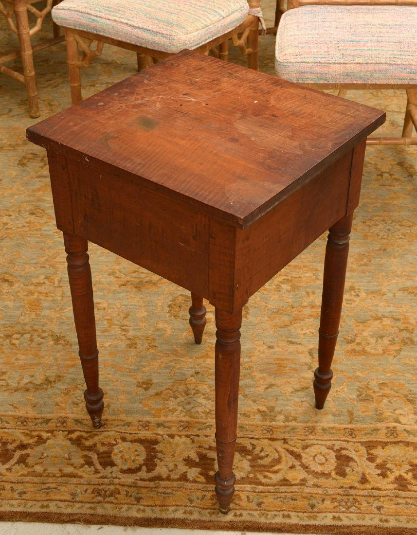 American tiger maple one drawer stand - 3