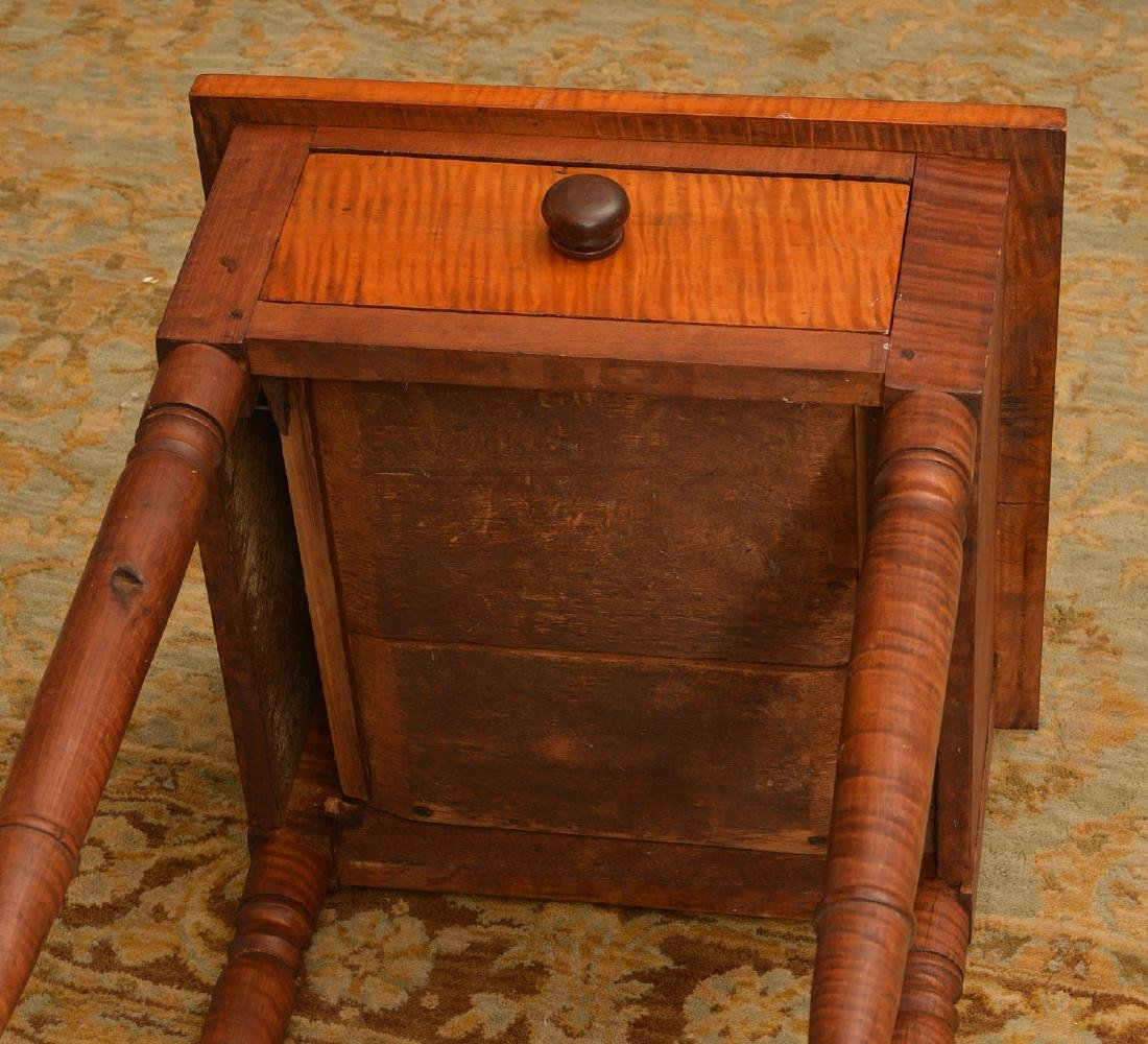 American tiger maple one drawer stand - 5