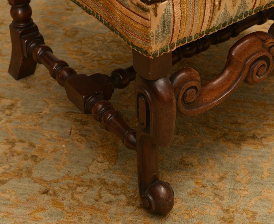 Charles II style walnut tall back chair - 2