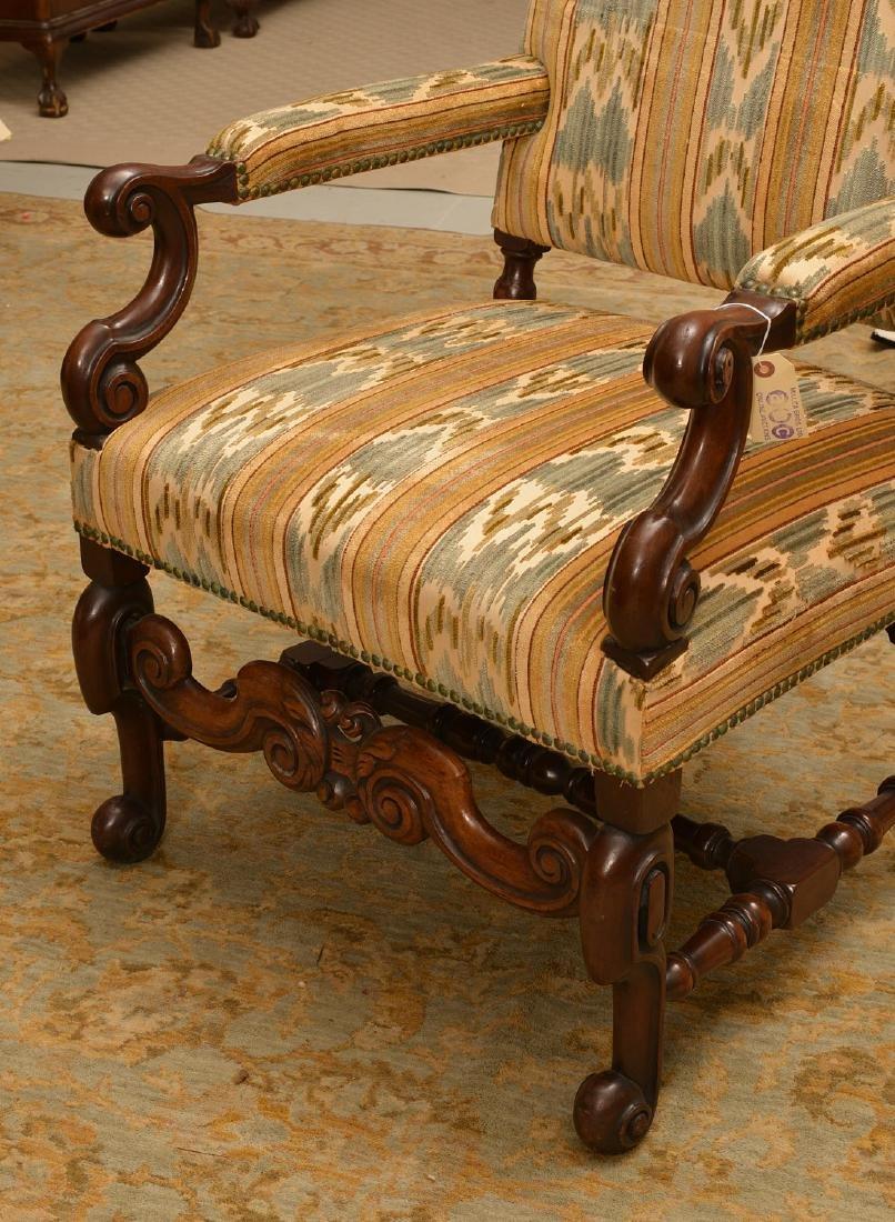 Charles II style walnut tall back chair - 3