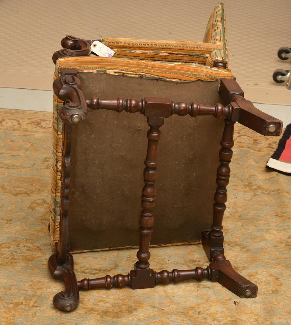 Charles II style walnut tall back chair - 5