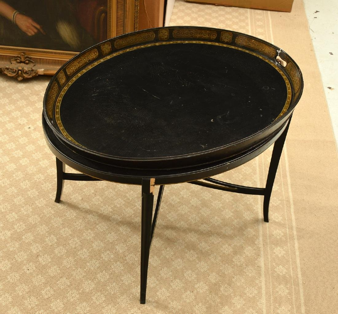 Wontner & Benson English papier mache tray table