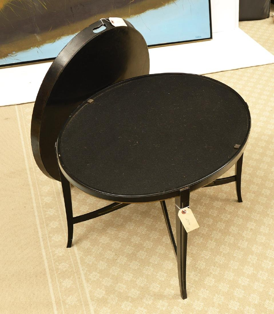 Wontner & Benson English papier mache tray table - 3