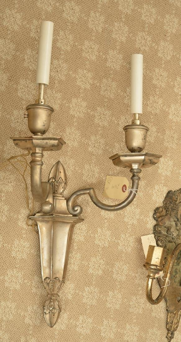 (3) silver plated wall sconces, Incl. Caldwell - 5