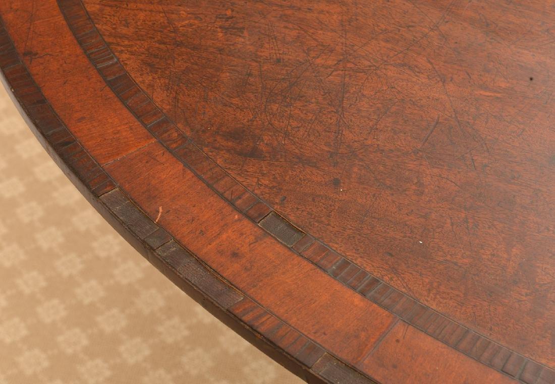 Regency banded mahogany breakfast table - 2