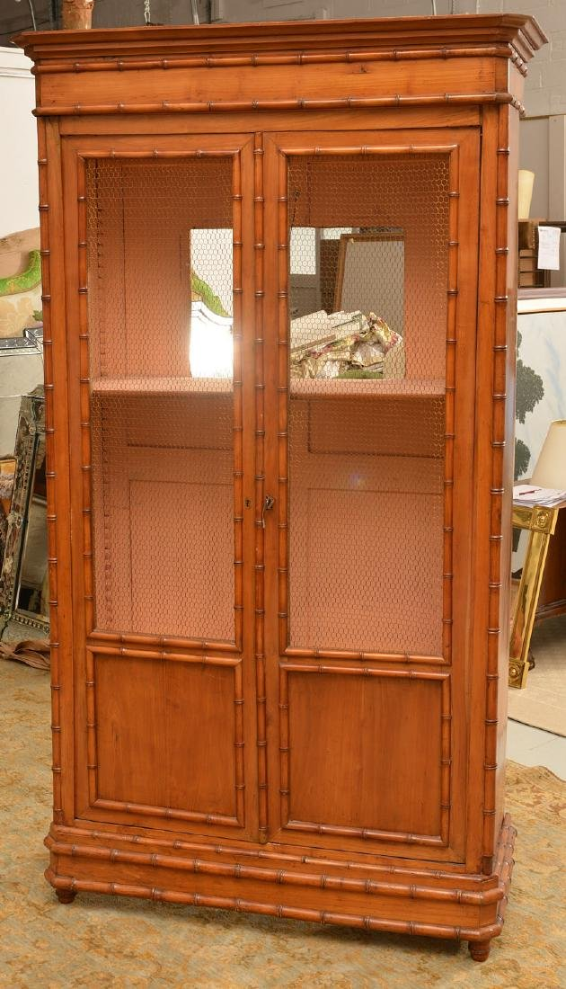 R.J. Horner style Faux bamboo cabinet