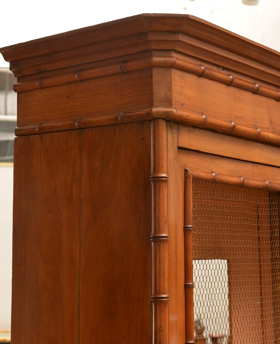 R.J. Horner style Faux bamboo cabinet - 3