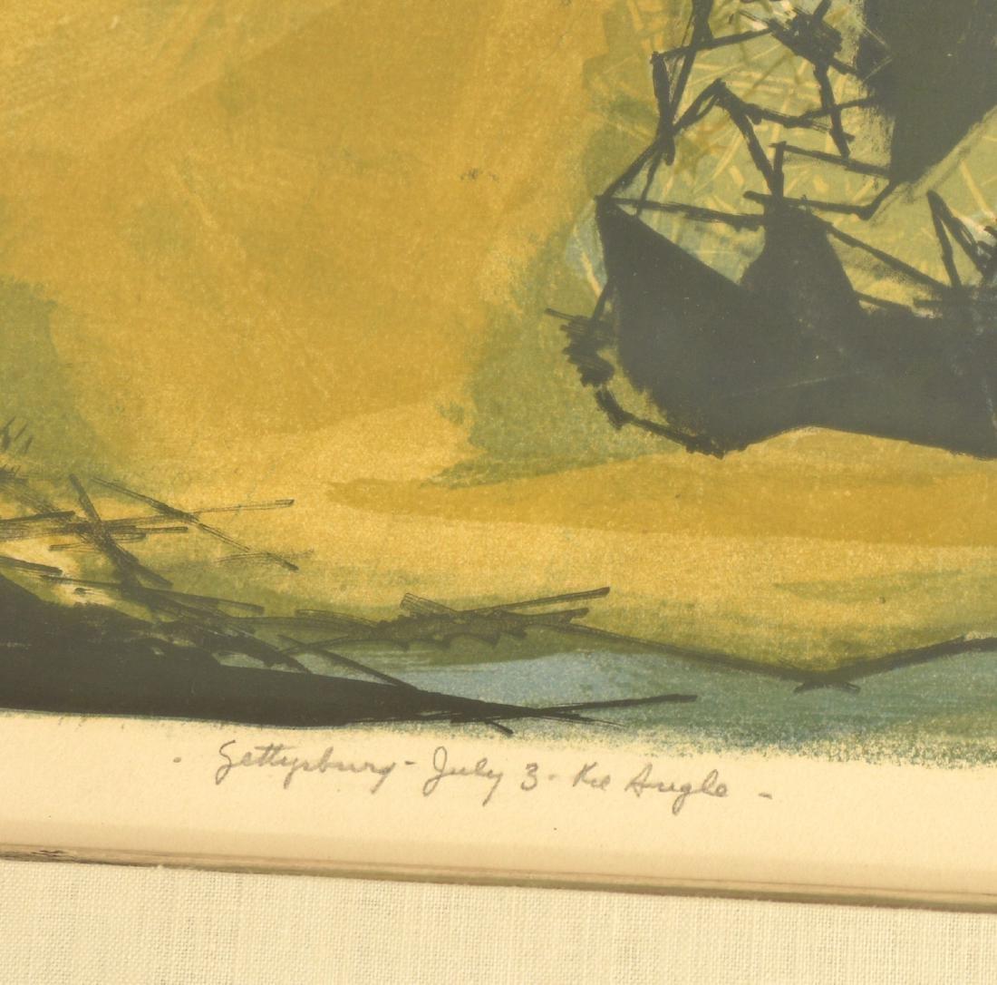 Benton Spruance, Gettysburg color lithograph - 3