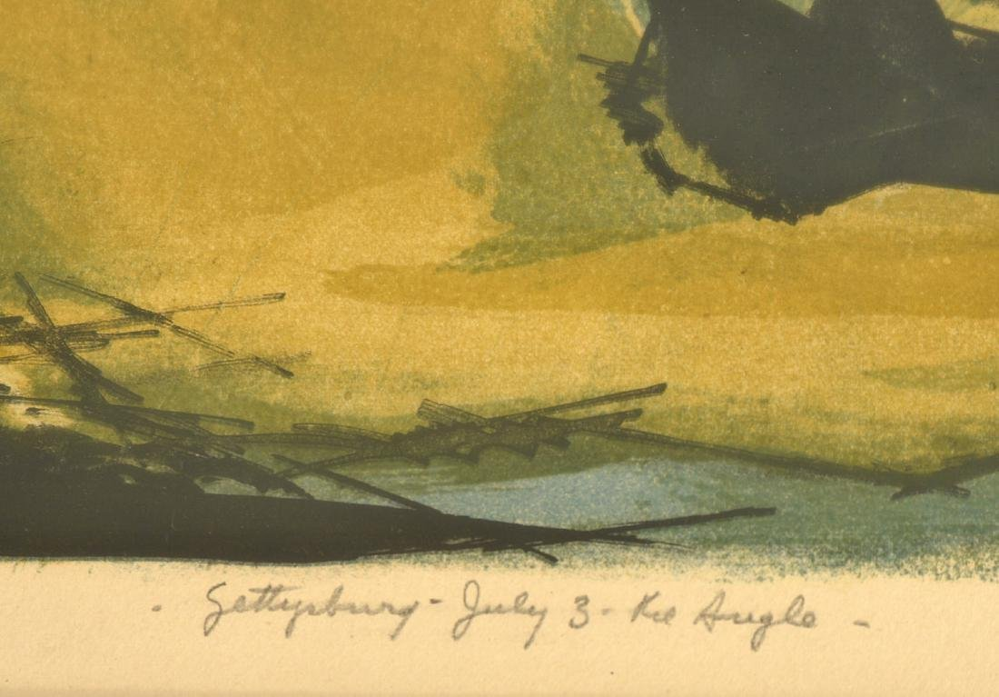 Benton Spruance, Gettysburg color lithograph - 4