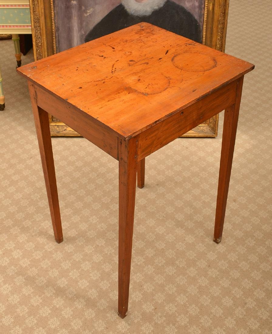 Antique American one-drawer maple stand