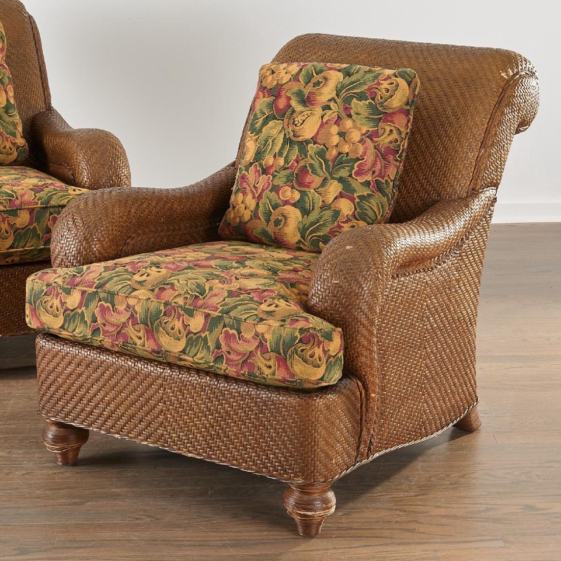 """Pair Hickory Chair """"Mark Hampton"""" club chairs"""