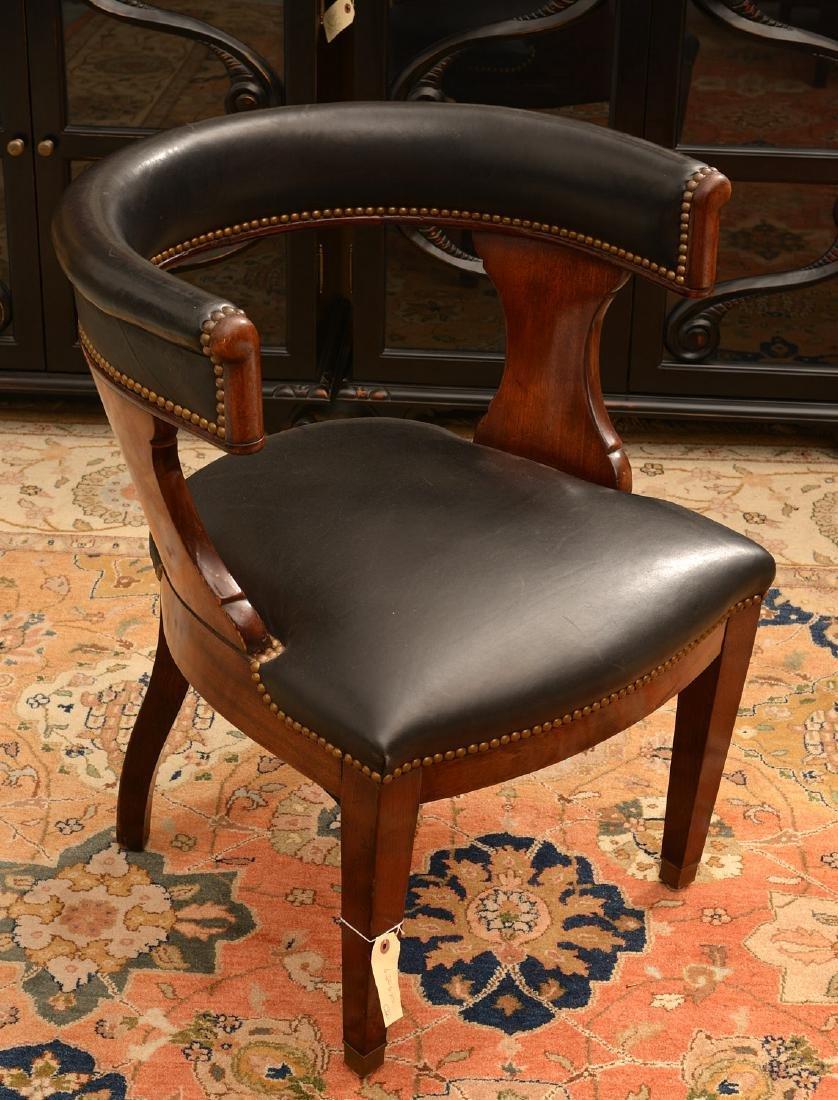 Regency style barrel back armchair