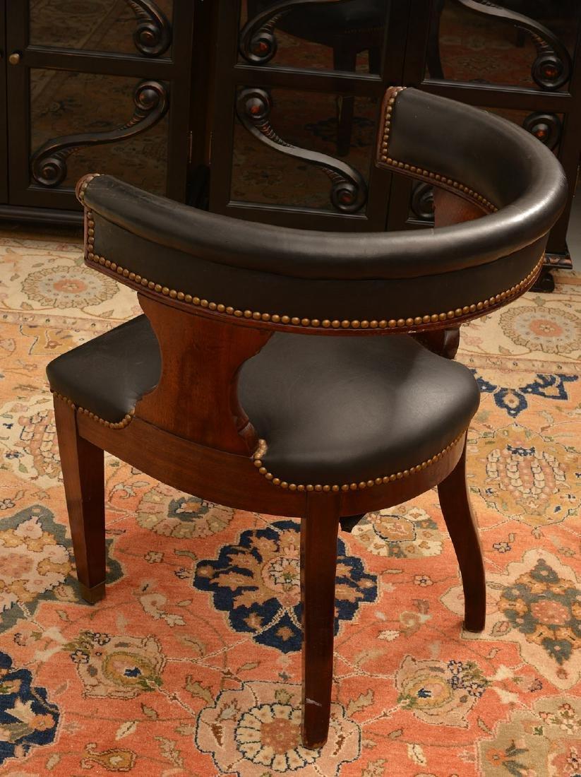 Regency style barrel back armchair - 3