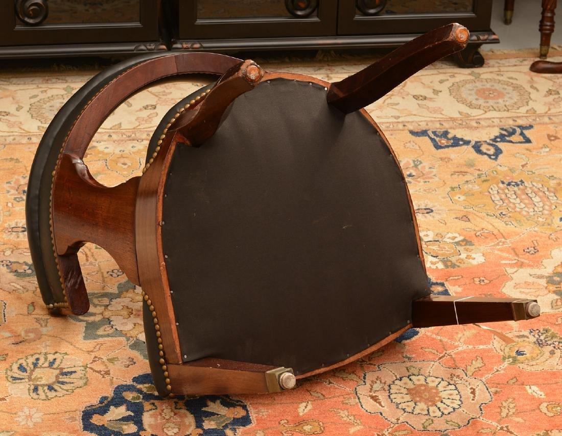 Regency style barrel back armchair - 4