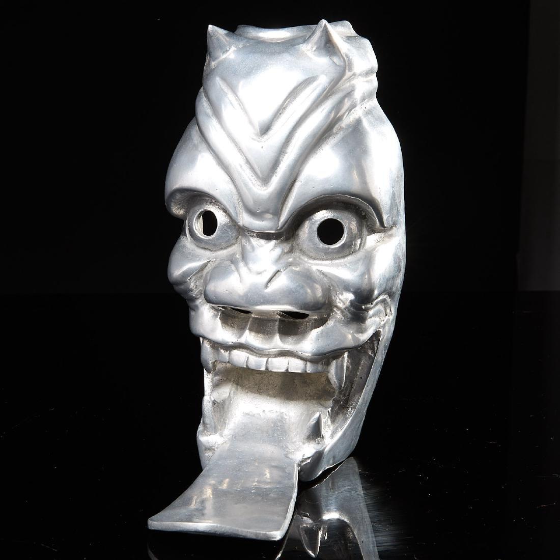 Arthur Court aluminum Noh mask