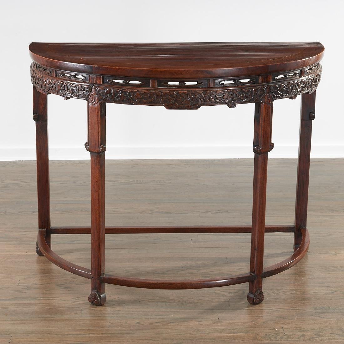 Nice Chinese demilune console table