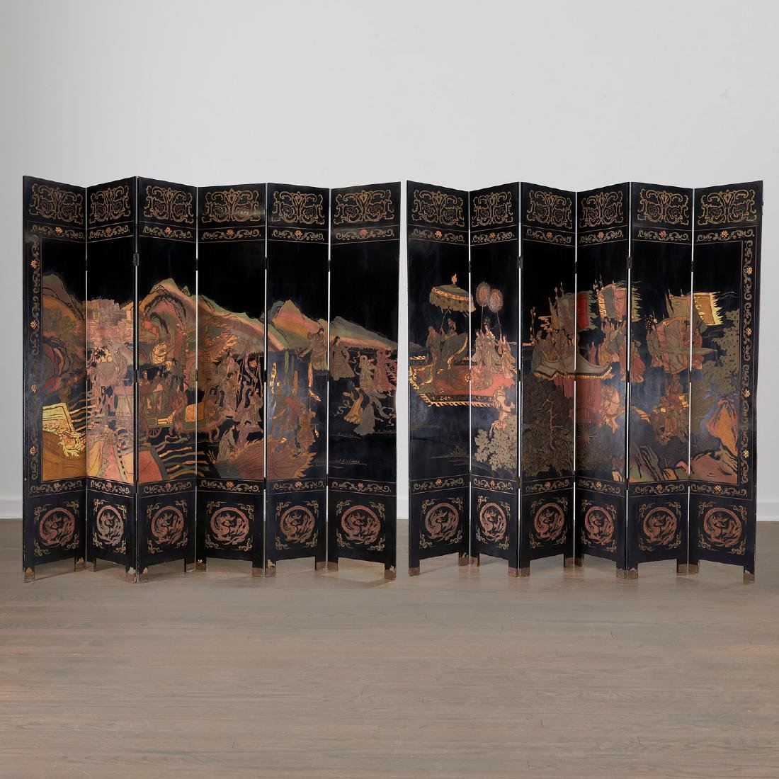Jacques Grange sourced coromandel screens