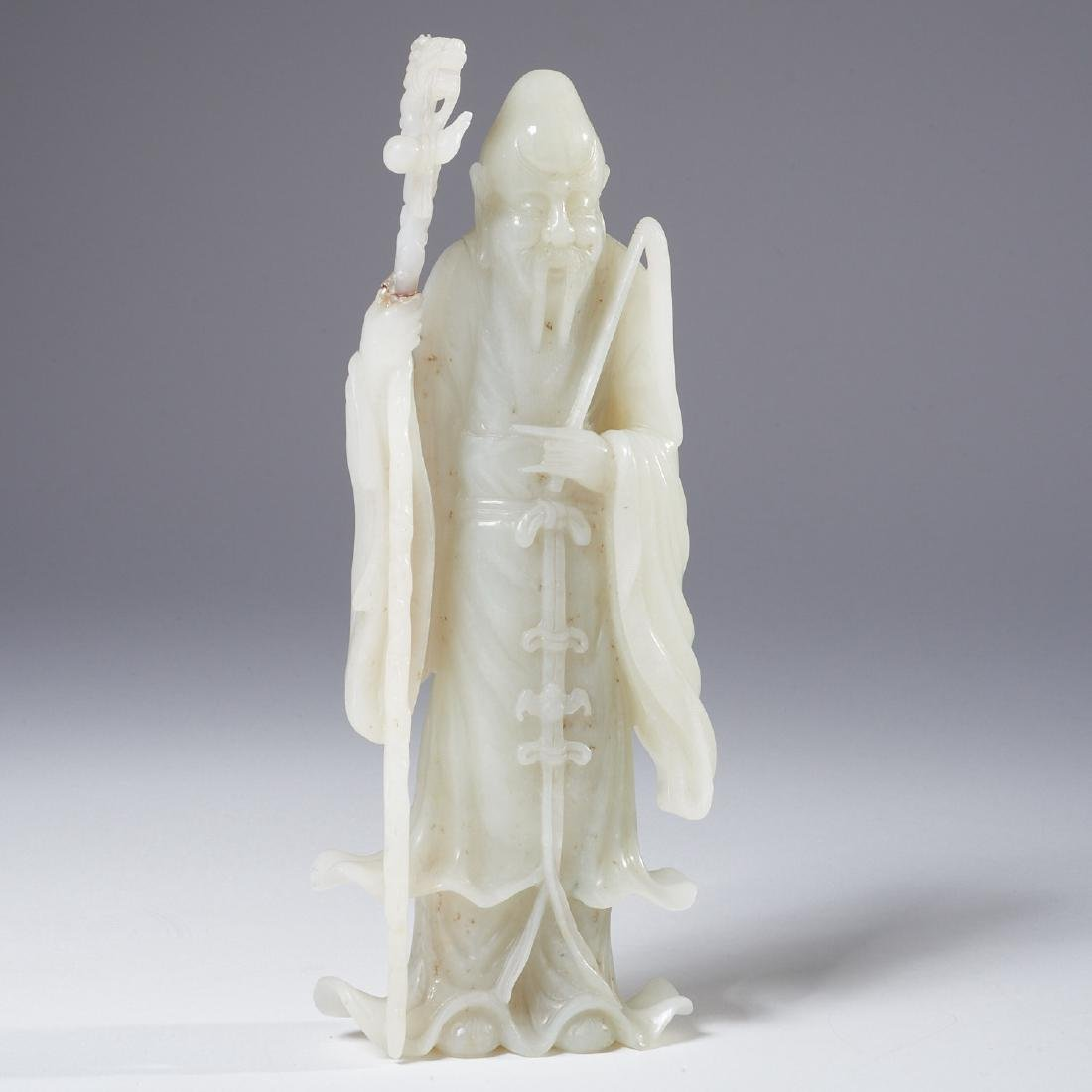 Chinese carved jade figure of Shou-Lao