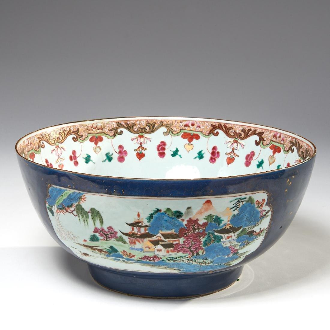 Large Chinese blue glazed bowl