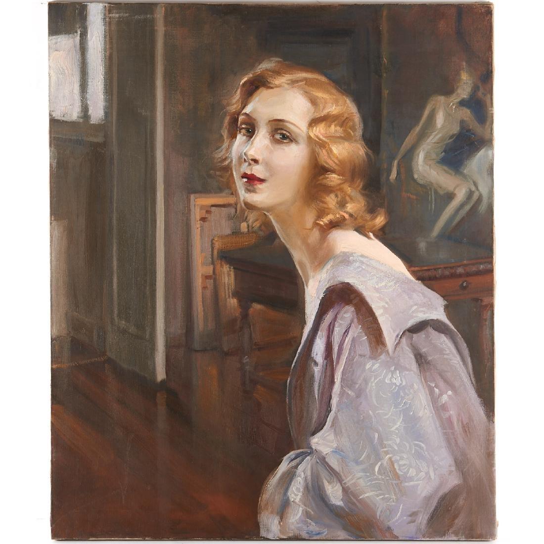 Huguette Clark (attrib.), portrait painting