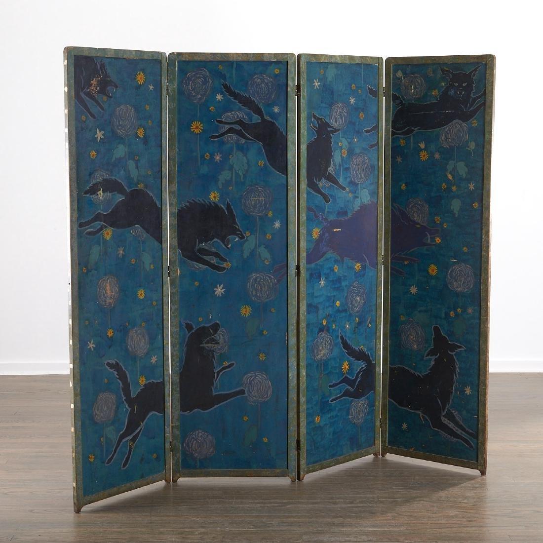 Anne Hyatt Huntington, painted screen