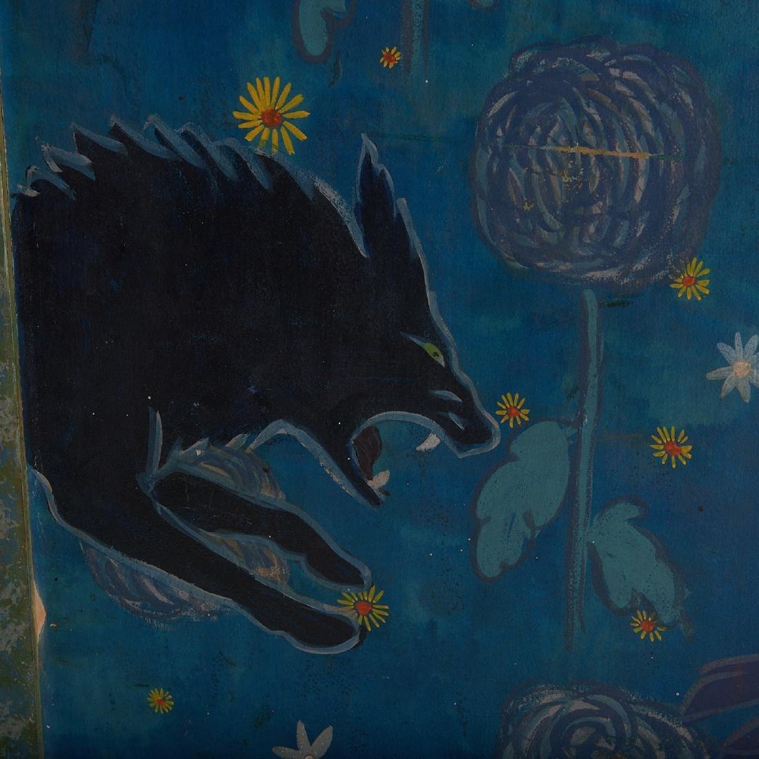 Anne Hyatt Huntington, painted screen - 2