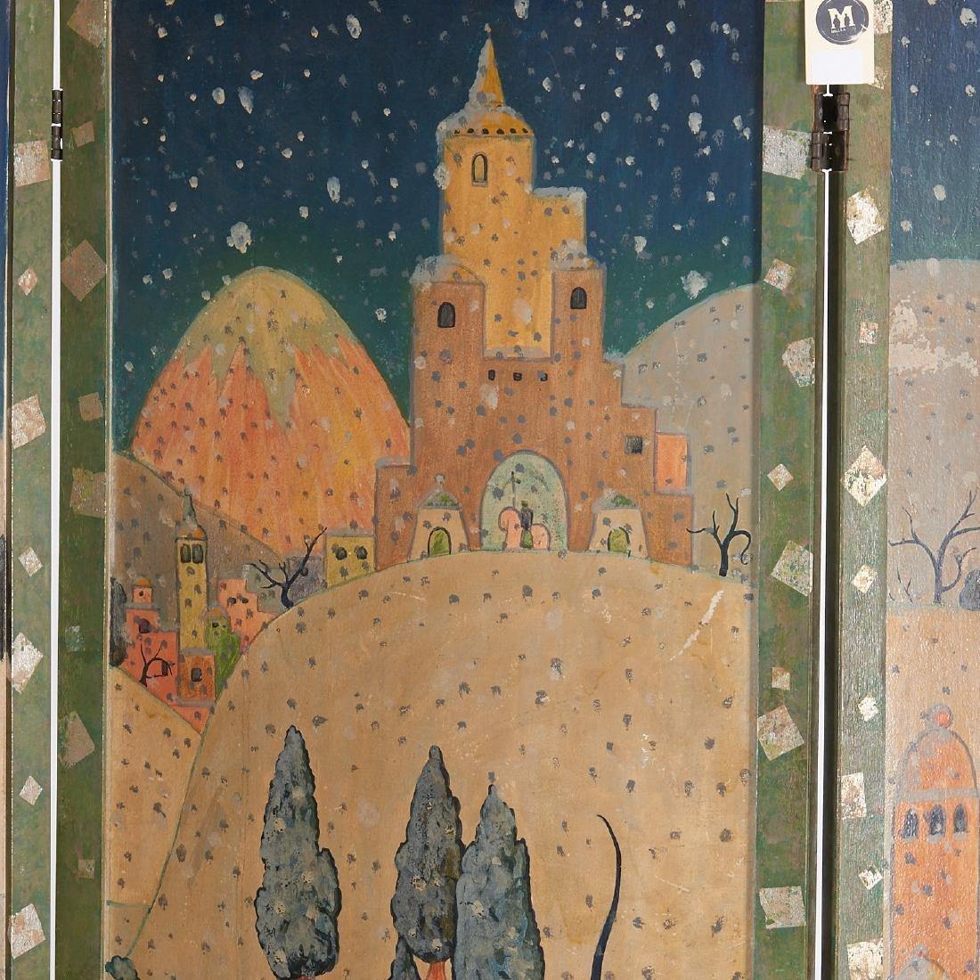 Anne Hyatt Huntington, painted screen - 5