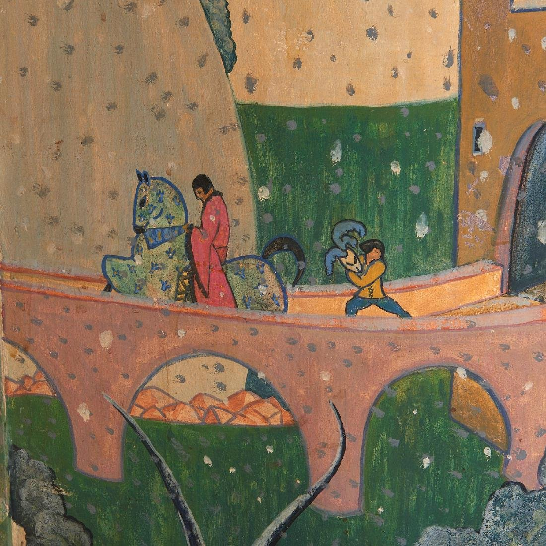 Anne Hyatt Huntington, painted screen - 7