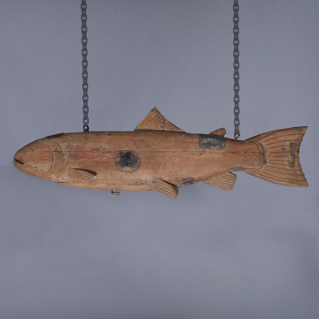 Huge Folk Art fish trade sign